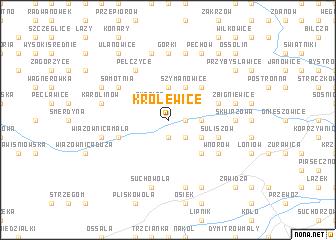 map of Królewice