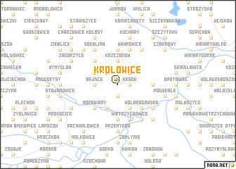 map of Krółowice