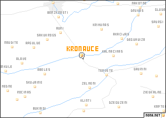 map of Kroņauce