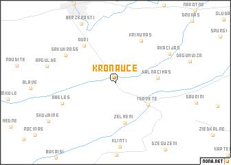 map of Kroņauce