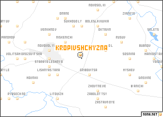 map of Kropivshchyzna
