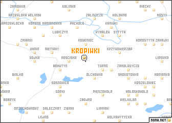 map of Kropiwki