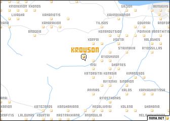 map of Krousón