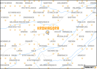 map of Krowia Góra