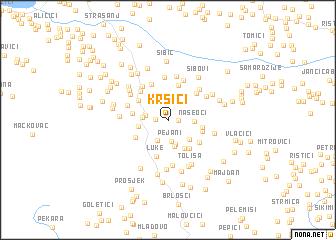 map of Kršići