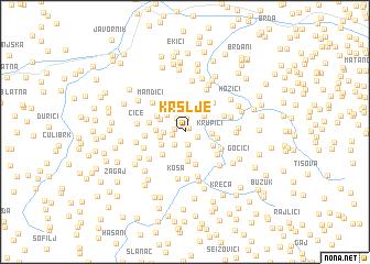 map of Kršlje
