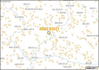 map of Kručevići