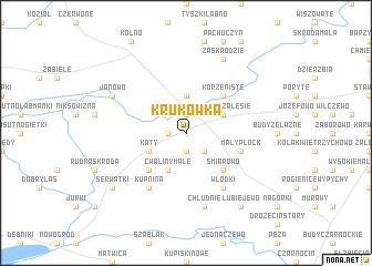 map of Krukówka