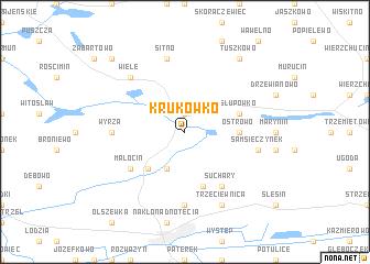map of Krukówko