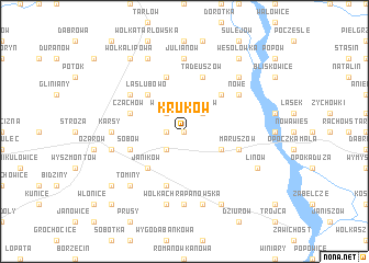 map of Kruków