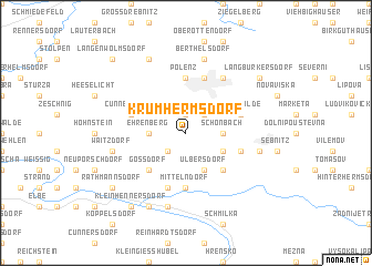 map of Krumhermsdorf