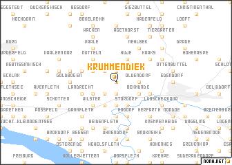 map of Krummendiek