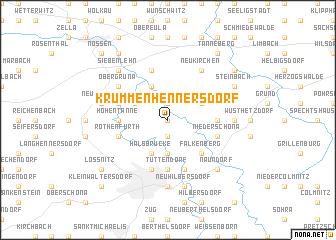 map of Krummenhennersdorf