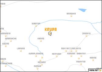 map of Krupa