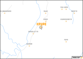 map of Krupe