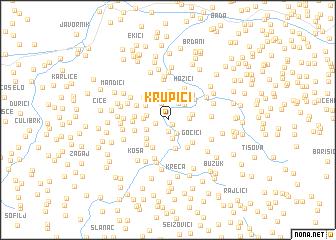 map of Krupići
