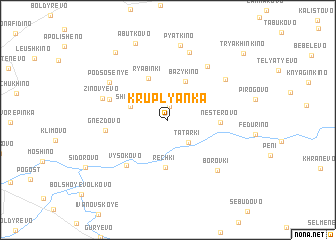 map of Kruplyanka