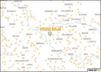 map of Kruščanje