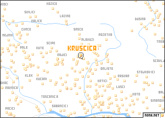 map of Kruščica