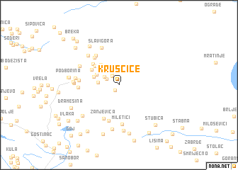 map of Kruščice