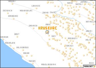 map of Kruševac