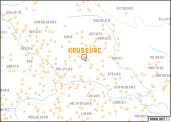 map of Kruševac
