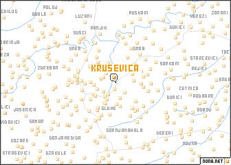 map of Kruševica