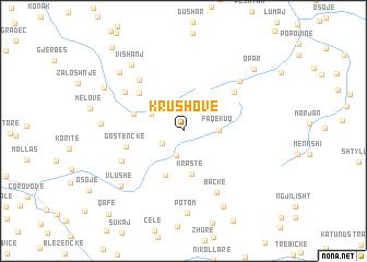 map of Krushovë