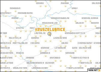 map of Krusze-Łubnice