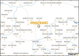 map of Kruszewiec