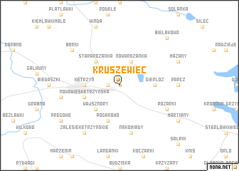 map of Kruszewiec