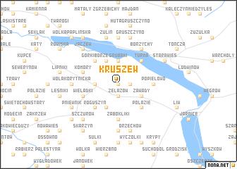 map of Kruszew