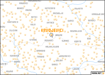 map of Krvojevići