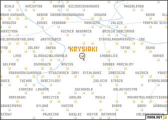 map of Krysiaki