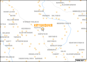 map of Kryukovka