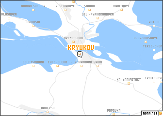map of Kryukov