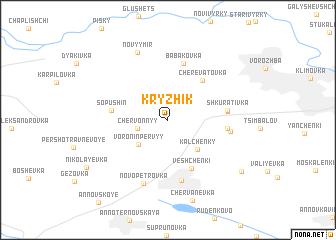 map of Kryzhik