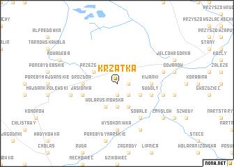 map of Krzątka