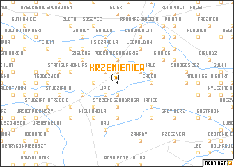 map of Krzemienica