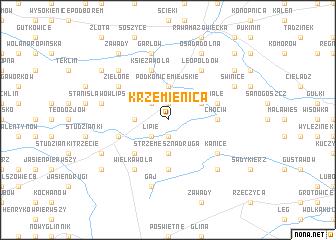 map of Krzemienica