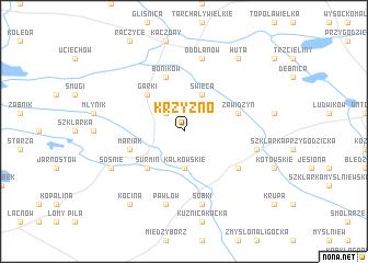 map of Krzyźno