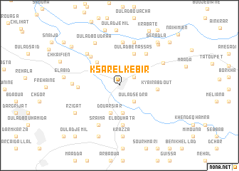 map of Ksar el Kebir