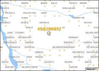 map of Księżomierz
