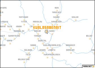 map of Kuala Sabenait