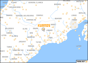 map of Kuanos