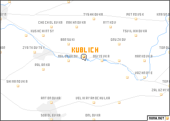 map of Kublich