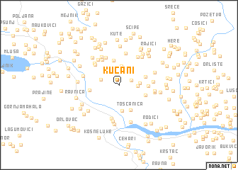 map of Kućani