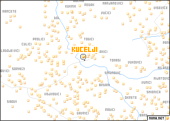 map of Kucelji