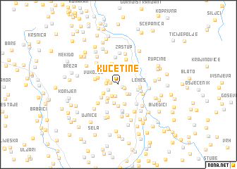 map of (( Kućetine ))