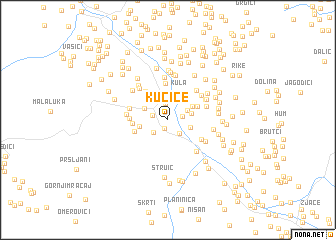 map of Kućice